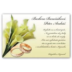 Svadobné oznámenie OZ16