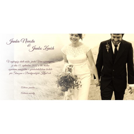 Svadobné oznámenie OF01